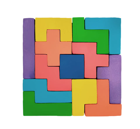 Wooden Jigsaw Puzzles for Toddlers Kids Baby 2 3 4 5 Year Preschool Toys Tetris