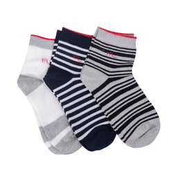 Casual Socks Woman Size 3-6 US Stripes Design Black White Hemp & Cotton With Nylon 3 Pairs Eco Friendly Every Day Antistatic Hypoallergenic