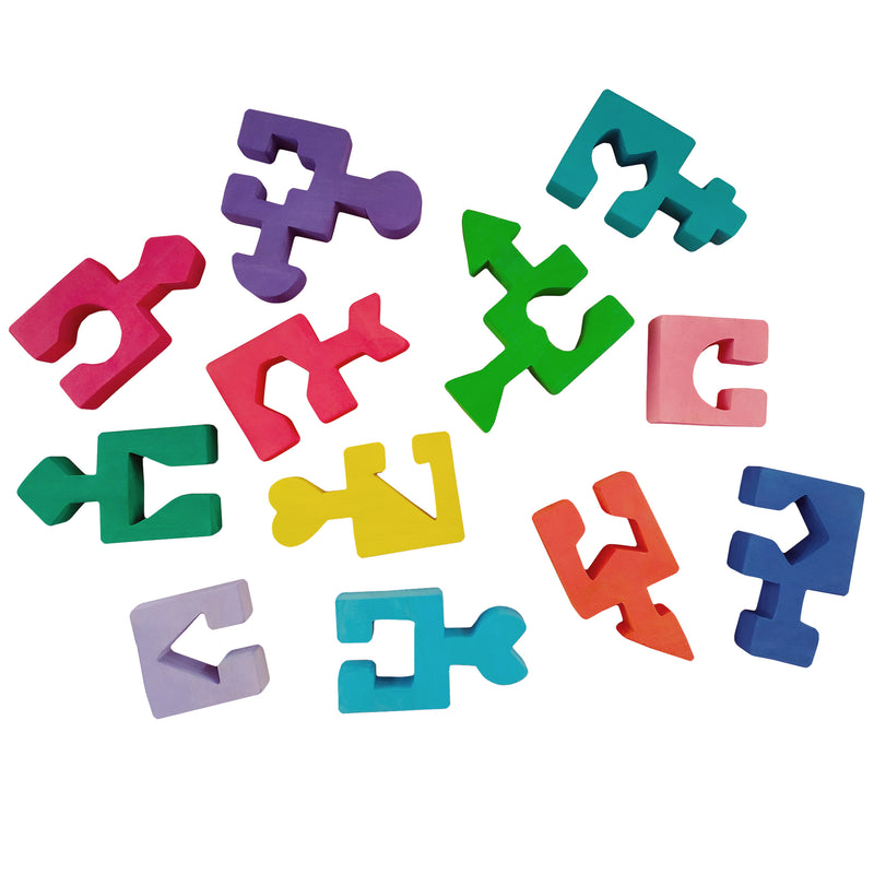 Wooden Jigsaw Puzzles for Toddlers Kids 2 3 4 5 Year Preschool Shape Toys Geom