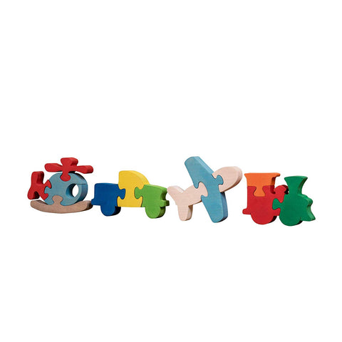 Wooden Puzzles for Toddlers Kids Baby 2 3 4 5 Year Olds Preschool Toys Transport