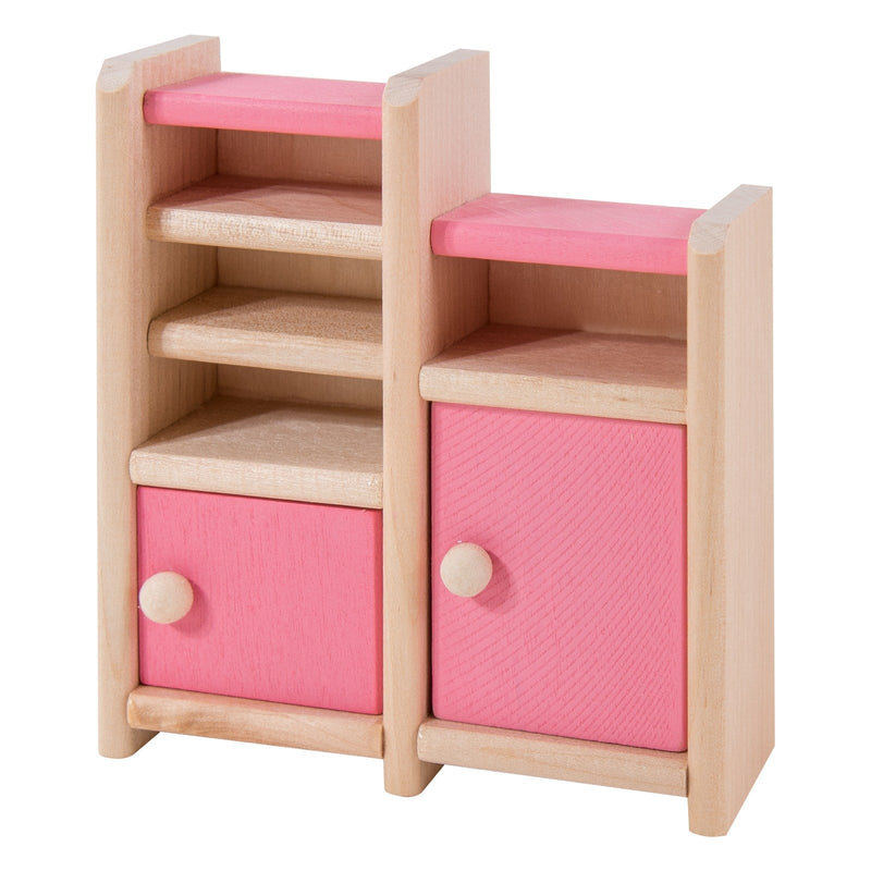 Eliiti Miniature Wooden Furniture Dollhouse Pretend Play Toys for Toddlers Girls Kids 3-7 Years Old Bedroom 12 Pcs