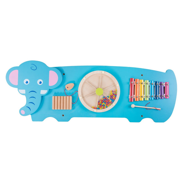 Eliiti Wall Hanging Wooden Multi-Functional Puzzle Xylophone for Toddlers Kids 3-6 Years Old Elephant
