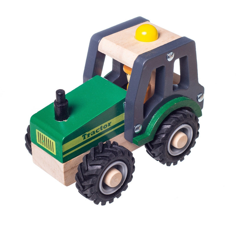 Eliiti Wooden Vehicles Toys Set for Toddlers Boys Kids 3 to 6 Years Old Crane Truck Concrete Mixer Tractor Truck