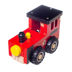 Eliiti Wooden Vehicles Steam Train Toy for Toddlers Boys Kids 3 to 6 Years Old