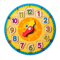 Eliiti Wooden Shape Sorting Clock Puzzle for Kids 3 to 6 Years Old Sun 12 Pcs