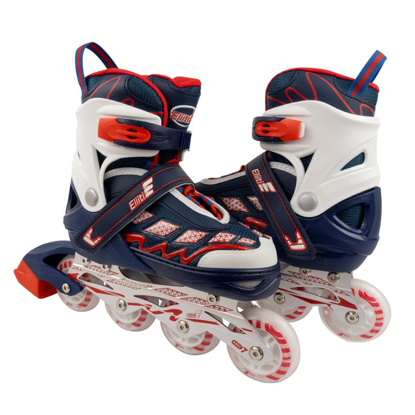 Eliiti Adjustable Kids Inline Skates for Girls and Boys Size 13.5J to 9 EL-187