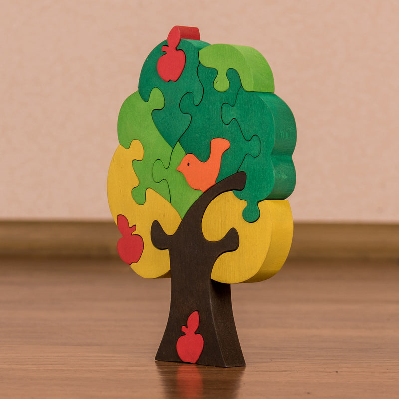 Wooden Jigsaw Puzzles for Toddlers Kids Baby 2 3 4 5 Year Preschool Apple Tree