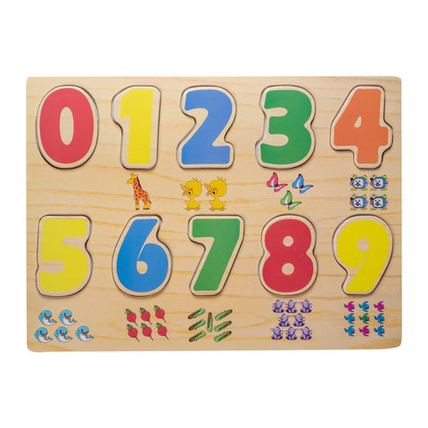Eliiti Wooden Peg Puzzle for Toddlers Kids 2 to 4 Years Old Numbers 10 Pcs
