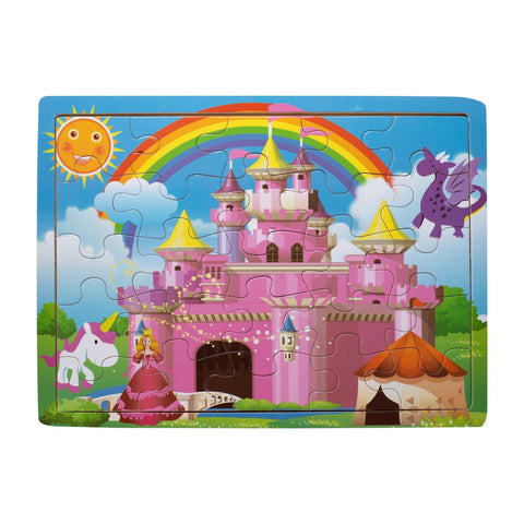 Eliiti Wooden Jigsaw Puzzle for Toddlers Girls 3 to 5 Years Old Princess Castle 25 Pcs