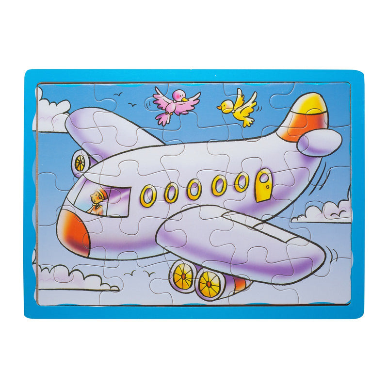 Eliiti Wooden Jigsaw Puzzle for Toddlers Boys 3 to 5 Years Old Airplane 25 Pcs