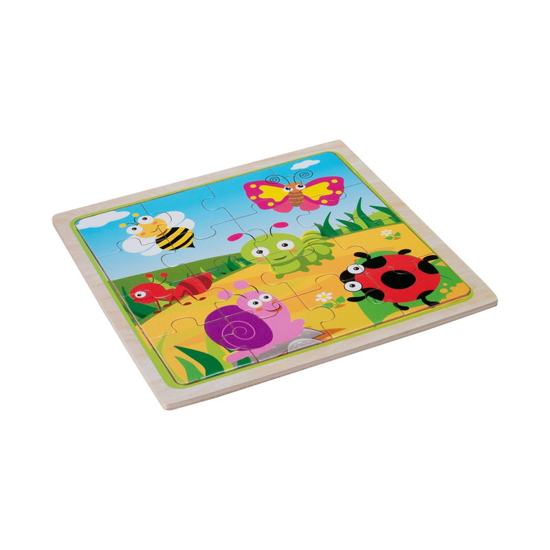 Eliiti Wooden Jigsaw Puzzle for Toddlers Kids 3 to 5 Years Old Insects 16 Pcs