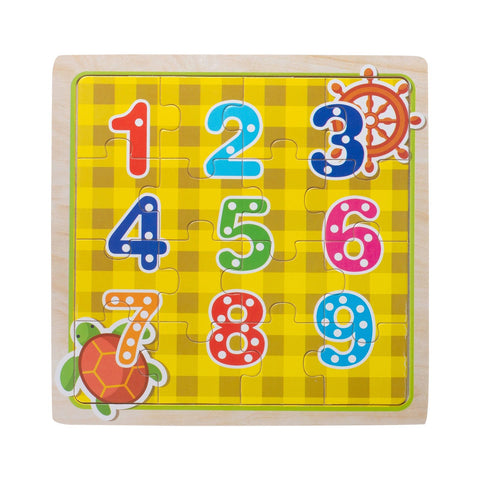 Eliiti Wooden Jigsaw Puzzle for Toddlers Kids 3 to 5 Years Old Numbers 16 Pcs