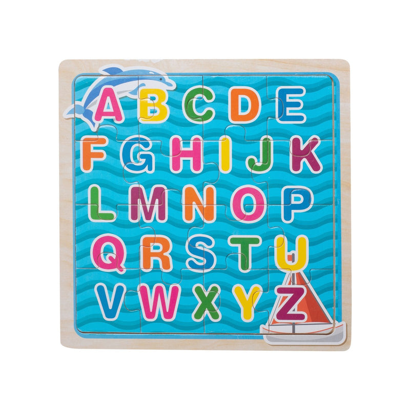 Eliiti Wooden Jigsaw Puzzle for Kids 4 to 6 Years Old Alphabet 16 Pcs