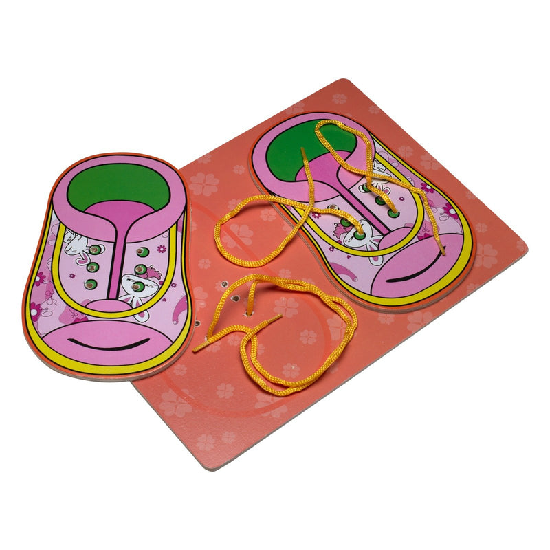Eliiti Wooden Lacing Boot Puzzle for Toddlers Girls Kids 3 to 6 Years Old