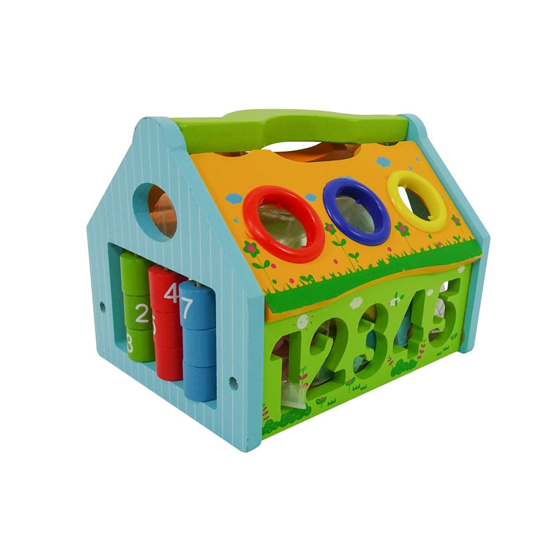 Eliiti 2-in-1 Wooden Pounding & Shape Sorter Math Numbers Educational Toy with Mallet for Toddlers Kids 3 to 5 Years Old 21 Pcs