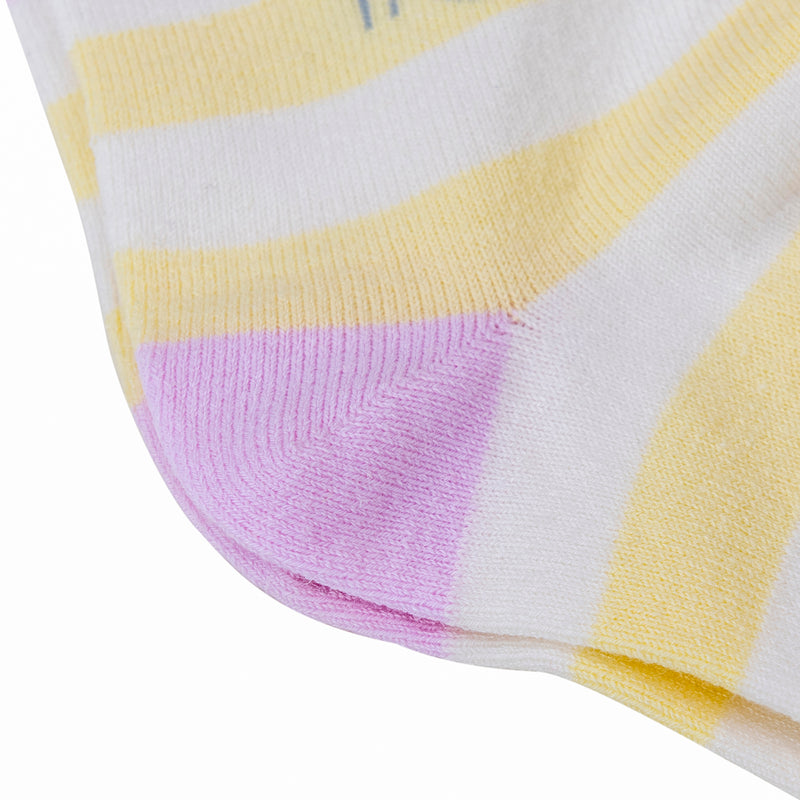 Colorful White Yellow Cozy Cotton Hemp Nylon Blend Dress Office Casual Every Day Use Socks 3 Pack Odor Fighting Antistatic Hypoallergenic