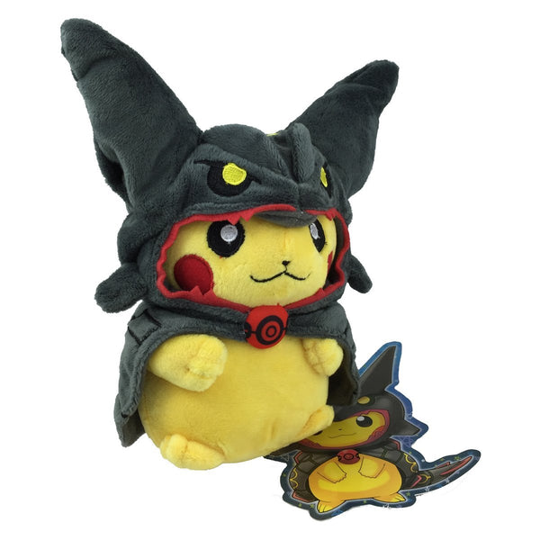 Pokemon Plush Toys Stuffed Animals Black Rayquaza Poncho Pikachu 8inch