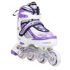 Rollerblades Kids Girls Boys Adjustable Inline Skates Light Up Purple Pink Blue