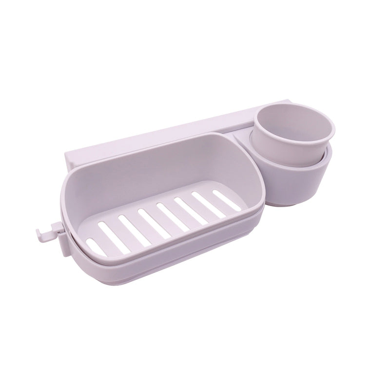 Edelvey Small Bathroom Organizer Toothbrush Storage Holder Wall Mount No Drill Adhesive