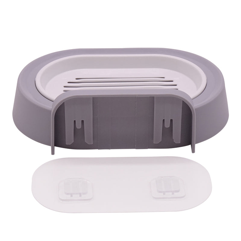 Edelvey Soap Dish Holder Tray for Bathroom Shower Wall Mount No Drill Adhesive