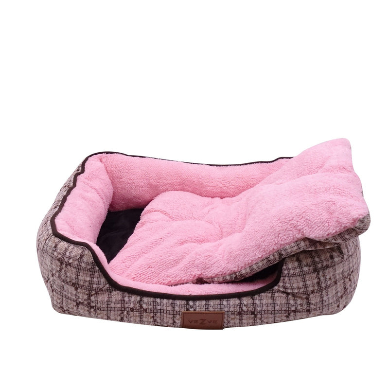 Warming Sleeping Bed For Dog Rectangle Reversible Washable Skin Contact Safe Memory Foam Firmness