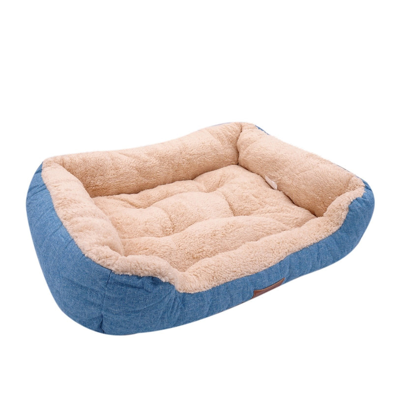 Dog Warming Bed Ultra Soft Skin Contact Calm Sleeping Safe Memory Foam Firmness Rectangle Non-Slip Bottom