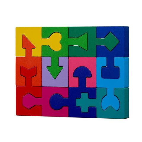 veZve Wooden Jigsaw Puzzle for Toddlers Kids 3 to 5 Years Old Boys Girls Toy