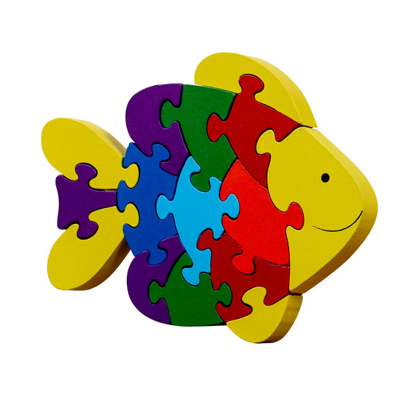 veZve Wooden Jigsaw Puzzle for Toddlers Kids 3 to 5 Years Old Boys Girls Toy, Fish