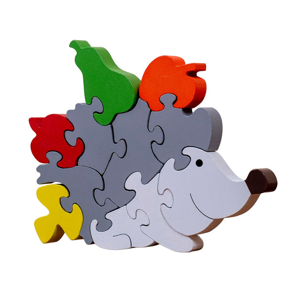 veZve Wooden Jigsaw Puzzle for Toddlers Kids 3 to 5 Years Old Boys Girls Toy, Hedgehog