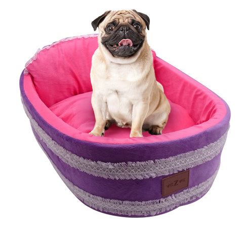 Oval Warming Dog Indoor Sleeping Bed With Washable Skin Contact Safe Memory Foam Firmness