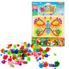 veZve Mosaic Mushroom Nails Peg Board Jigsaw Puzzle Learning Educational Toys Mix Colour Creative DIY Art For Kids Children Age Over 3 Years Old Butterfly