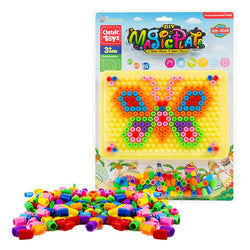 veZve Pegboard Jigsaw Puzzle Barrel Nails Creative Educational Puzzles Mix Colour Crafts Pegboard Toy Gift For Children Ages 3 Years And Up Butterfly
