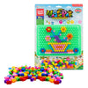 veZve Barrel Nails Mosaic DIY Science Pile Creative Colorful Pegboard Jigsaw Puzzle Pixel Board Game For Children Ages 3 Years And Up Flower