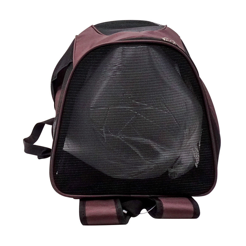 Mesh Carrier Shoulder Red Bag Breathable Travel Durable Ventilated Backpack Design For Cat Puppies Airline Approved Small