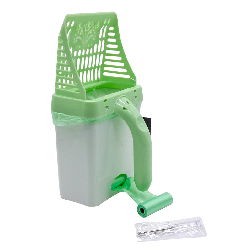 Cat Deep Shovel With Litter Scooper Green Caddy Portable Solid Durable Handle And Body Long Last Non-stick No Odor Absorb High Grade Material