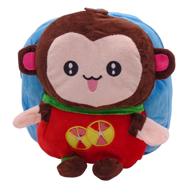 veZve Plush Animal Kids Backpack for Toddler Girl 3 to 5 Years Old, Monkey