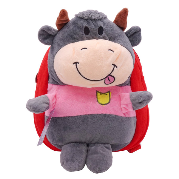 veZve Plush Animal Kids Backpack for Toddler Girl 3 to 5 Years Old, Cow