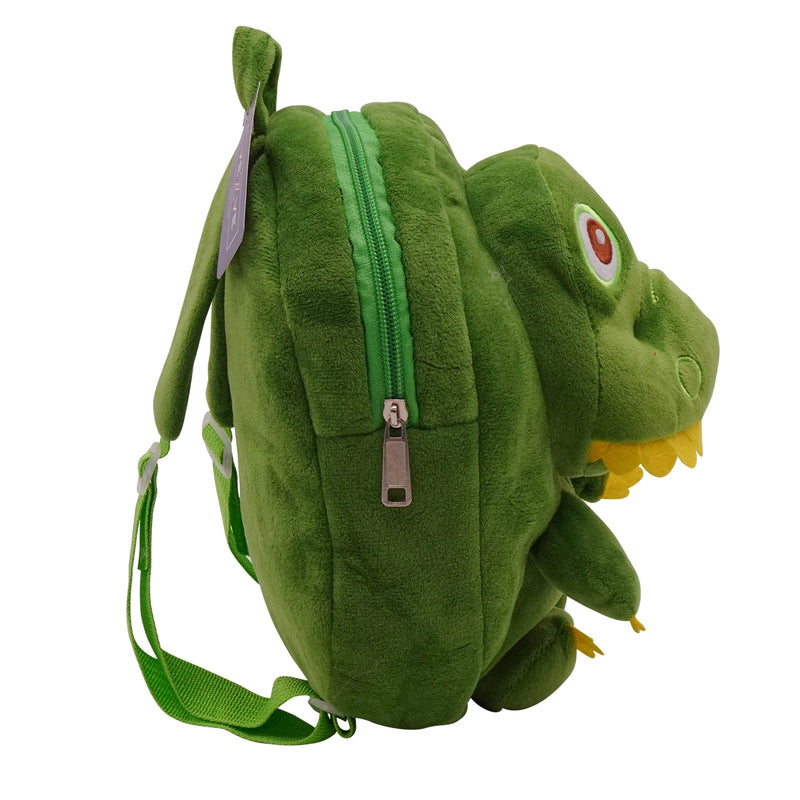veZve Plush Animal Kids Backpack for Toddler Girl 3 to 5 Years Old, Dinosaur