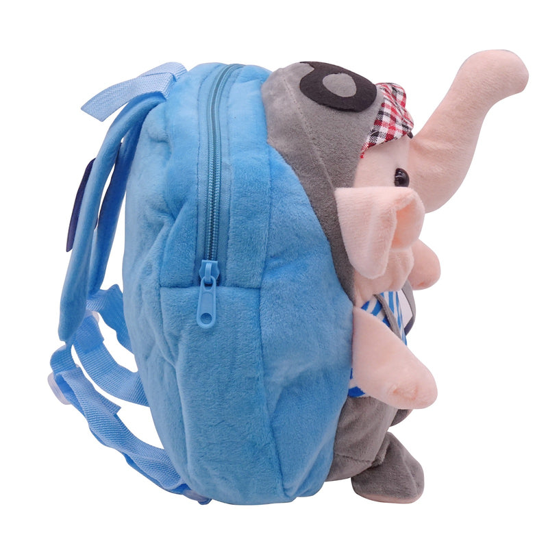 veZve Plush Animal Kids Backpack for Toddler Girl 3 to 5 Years Old, Elephant