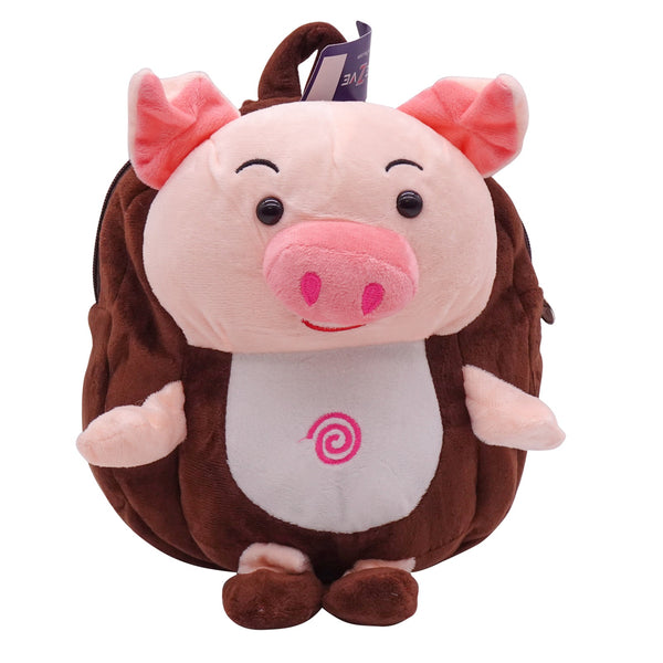 veZve Plush Animal Kids Backpack for Toddler Girl 3 to 5 Years Old, Pig