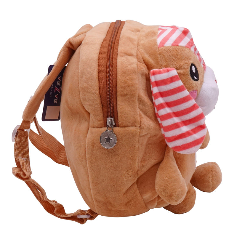 veZve Plush Animal Kids Backpack for Toddler Girl 3 to 5 Years Old, Rabbit