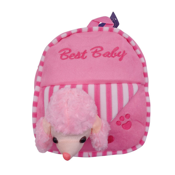 veZve Plush Animal Kids Backpack for Toddler Girl 3 to 5 Years Old, Poodle