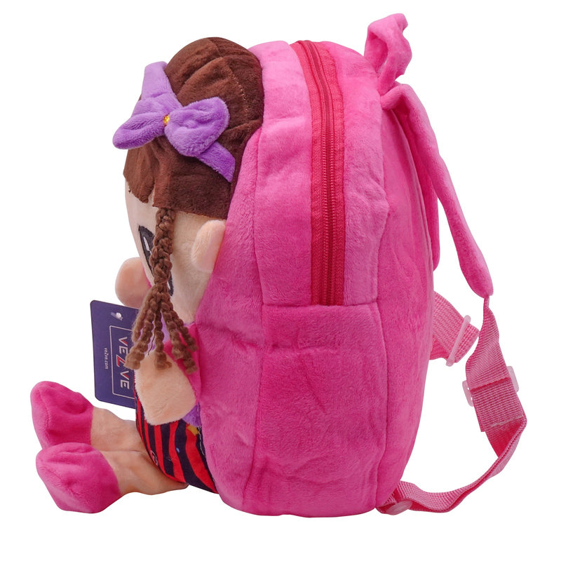 veZve Plush Animal Kids Backpack for Toddler Girl 3 to 5 Years Old, Doll1
