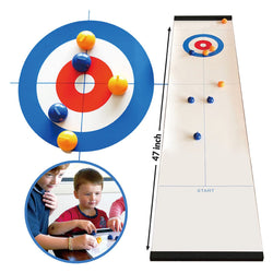 Tabletop Curling Mini-Game Compact Portable Family Sports Board Games For Kids Adults