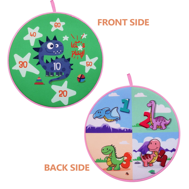 Dinosaur Theme Two-Sided Dart Board Game Indoor Children Sports Toy