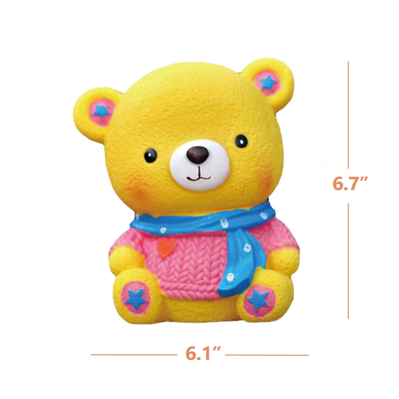 Bear-Shaped DIY Money Bank Painting Set Decorate Your Own Figurine