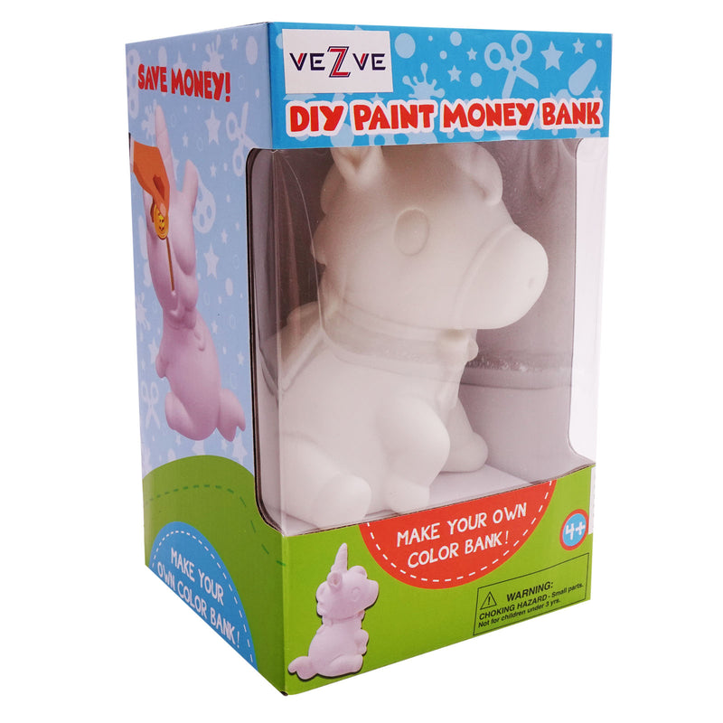 Kids Unicorn Figurine Ceramic Money Bank DIY Decoration Kit for Painting Designing Styling