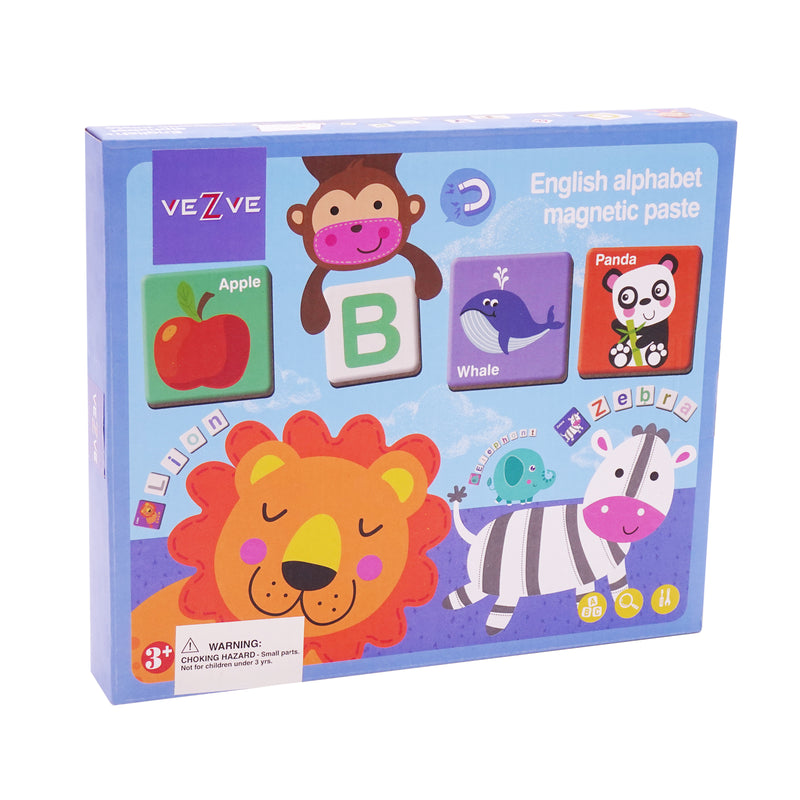 Kids Alphabet Learning Magnetic Puzzles Game Travel Educational Interactive Toy