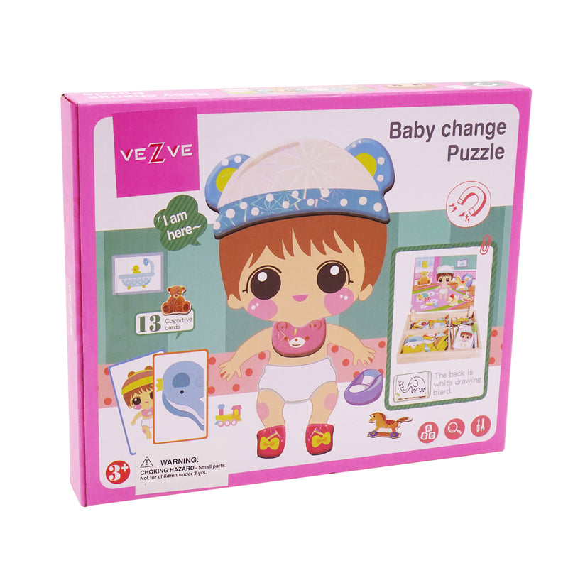 Magnetic Baby Change Dress Up Puzzles Education Imagination Training Toy for Girls