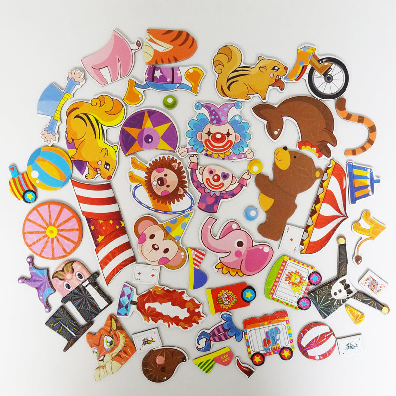 Educational Magnetic Puzzles Circus Troupe 13 Characters to Build Toy for Kids Boys Girls
